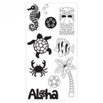 Sizzix - Clear Acrylic Stamps - Aloha