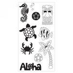 Sizzix - Clear Acrylic Stamps - Aloha