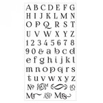 Sizzix - Clear Acrylic Stamps - Alphabet