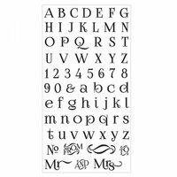 Sizzix - Clear Acrylic Stamps - Alphabet