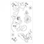 Sizzix - Clear Acrylic Stamps - Bird and Vines