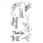 Sizzix - Clear Acrylic Stamps - Birds and Phrases