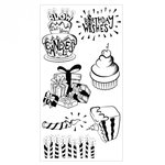 Sizzix - Clear Acrylic Stamps - Birthday Wishes