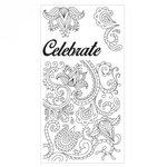 Sizzix - Clear Acrylic Stamps - Celebrate Flowers
