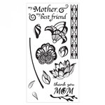 Sizzix - Clear Acrylic Stamps - Mom