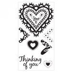 Sizzix - Interchangeable Clear Acrylic Stamps - Doodle Hearts
