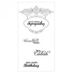 Sizzix - Interchangeable Clear Acrylic Stamps - Hanging Sign with Phrases