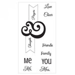 Sizzix - Interchangeable Clear Acrylic Stamps - Me and You