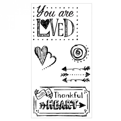 Sizzix - Clear Acrylic Stamps - You Are Loved