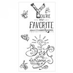 Sizzix - Clear Acrylic Stamps - You're My Favorite