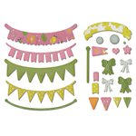 Sizzix - A Bright Harvest Collection - Thinlits Die - Banners, Adjustable Length