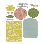 Sizzix - A Bright Harvest Collection - Thinlits Die - Card, Basics