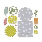 Sizzix - A Bright Harvest Collection - Thinlits Die - Card, Fall Flowers