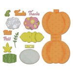 Sizzix A Bright Harvest Card, Harvest Pumpkin Thinlits Die