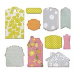 Sizzix - A Bright Harvest Collection - Thinlits Die - Labels and Tags, Happy Home