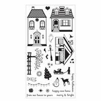 Sizzix - Clear Acrylic Stamps - Happy Home
