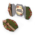 Sizzix - Winter Wishes Collection - Christmas - Thinlits Die - Card, Happy Holidays Fold-a-Long