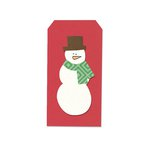 Sizzix - Homegrown and Handmade Collection - Framelits Die with Clear Acrylic Stamps - Snowman and Tag