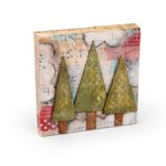 Sizzix - Homegrown and Handmade Collection - Christmas - Originals Die - Trees, Three