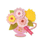 Sizzix - Favorite Things Collection - Bigz Die - Tea Cup Bouquet