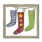Sizzix - Let it Snow Collection - Christmas - Thinlits Die - Christmas Stockings