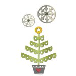 Sizzix - Let it Snow Collection - Christmas - Thinlits Die - Christmas Tree and Snowflakes