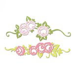 Sizzix - Garden Party Collection - Thinlits Die - Rose Border