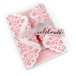 Sizzix - Garden Party Collection - Thinlits Die - Card, Rose Lace Gatefold