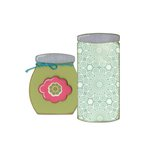 Sizzix - Stitchlits Collection - Bigz Die - Button Jars and Labels