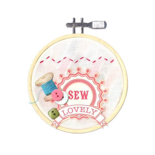 Sizzix - Stitchlits Collection - Bigz Die - Embroidery Hoop