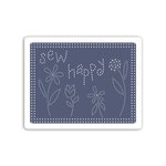 Sizzix - Stitchlits Collection - Textured Impressions - Embossing Folder - Sew Happy