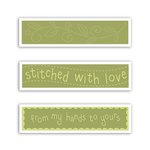 Sizzix - Stitchlits Collection - Textured Impressions - Embossing Folder - Stitched with Love Set