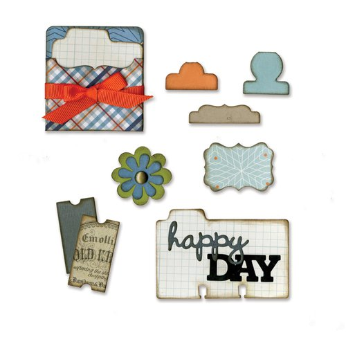 Sizzix - Thinlits Die - Pocket, Cards and Tabs