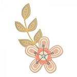 Sizzix - My Kind of Happy Collection - Thinlits Die - Intricate Garden Flowers