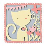 Sizzix - My Kind of Happy Collection - Thinlits Die - Playful Kitten