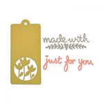 Sizzix - My Kind of Happy Collection - Thinlits Die - Tag and Phrases
