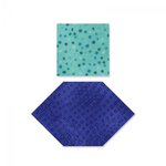Sizzix - Fabi Bigz Die - Honeycombs and Squares, 1 Inch and 1.5 Inch Sides
