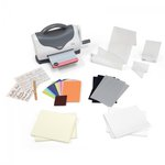 Sizzix - Texture Boutique Embossing Machine - Starter Kit - White and Gray