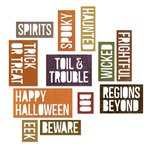 Sizzix - Tim Holtz - Alterations Collection - Halloween - Thinlits Die - Halloween Words - Block