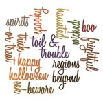 Sizzix Tim Holtz Alterations Script Halloween Words Thinlits Die