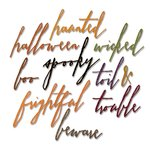 Sizzix - Tim Holtz - Alterations Collection - Halloween - Thinlits Die - Handwritten Halloween