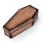 Sizzix - Tim Holtz - Alterations Collection - Halloween - Movers and Shapers L Die - Coffin Box