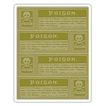 Sizzix - Tim Holtz - Alterations Collection - Halloween - Texture Fades - Embossing Folder - Poison Labels
