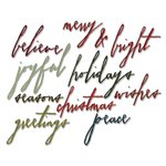 Sizzix - Tim Holtz - Alterations Collection - Christmas - Thinlits Die - Handwritten Holidays