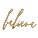 Sizzix - Tim Holtz - Alterations Collection - Christmas - Bigz Die - Handwritten Believe