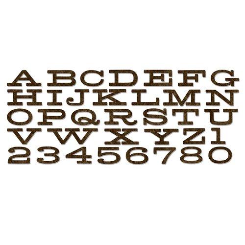 Sizzix - Tim Holtz - Alterations Collection - Christmas - Bigz XL Alphabet Die - Billboard
