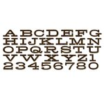 Sizzix - Tim Holtz - Alterations Collection - Christmas - Bigz XL Alphabet Die - Billboard