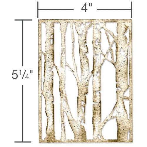 Sizzix - Tim Holtz - Alterations Collection - Christmas - Thinlits Die - Birch Trees