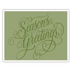 Sizzix - Tim Holtz - Alterations Collection - Christmas - Texture Fades - Embossing Folder - Season's Greetings