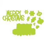 Sizzix - Thinlits Die - Merry Christmas 3D Drop-ins Sentiment